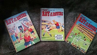 Roy of the Rovers Annuals 1958, 1959 and 1960.
