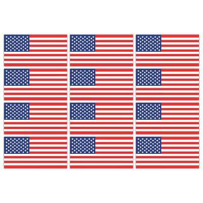 USA American Flag Laminated Stickers Small 12x 45x22mm Decals