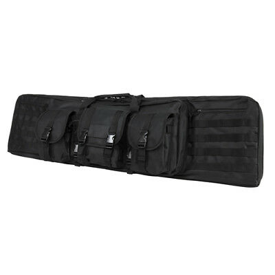 NcStar Vism MOLLE Black Heavy Duty PVC Fully Padded Double Carbine Case - 46 in