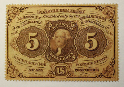 Fr. 1228 Perforated 5 Five cents Postal Currency Fractional Very Nice(55)
