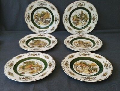 Complete Set of 4 Plus 2 Extras By Wood and Sons Ascot Decorative Wall Plates