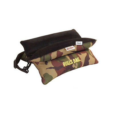 Woodland Camo Military Style Bulls Bag Bench Shooting Rest w/ Carry Strap - 15""