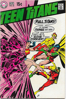 Teen Titans #22, DC Comics 1969, Adams, Cardy, Kane art Origin Wonder Girl FN