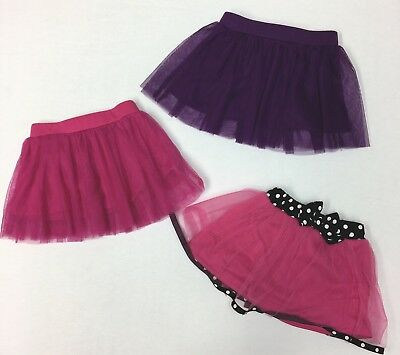 Lot Of Baby Girl Tulle Skirts Size 6-12 Months Pink Purple (#B24)