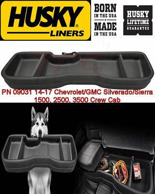 Husky Under Seat Storage Box 2014-2018 Chevy Silverado GMC Sierra Crew Cab 09031