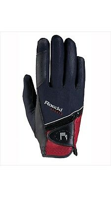 (6.5, black-red) - Roeckl - riding gloves MADRID. Free Delivery
