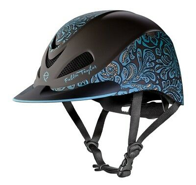 (Large, Turquoise Floral) - Troxel Fallon Taylor Performance Helmet