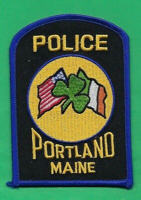 Portland Police Department Irish Officer Embroidered Patch ~ Maine ~ Awesome