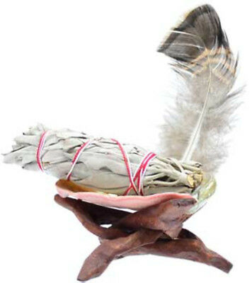 NEW White Sage Kit Smudge Stick Ritual Altar Cobra Stand Abolone Shell Feather