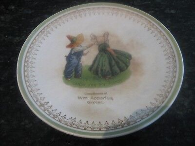 "Rare Vintage ""trenle China Co,ravenswood,wv"" 7 1/2"" Plate,'candy For My Mandy'"
