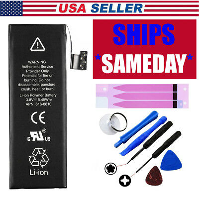 High-Capacity Internal Replacement Battery for iPhone5 5S 6 6s Plus 7+Tools kit