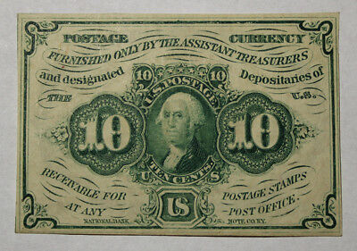 Postal Currency Fr#1242 Straight Edges Ten Cents 10c Very Nice (56)