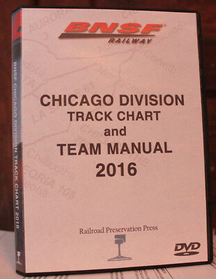 BNSF Chicago Division Track Chart DVD 2016