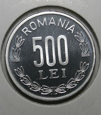 Romania - 500 Lei 2003 . Proof Coin  . From Mint Set .