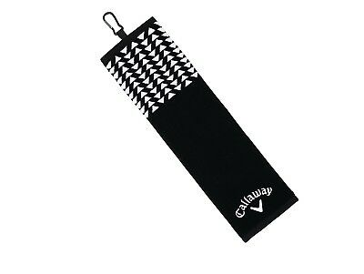 Callaway Golf Women's 2017 Cotton Up town Towel, Black, 16 x 21. Unbranded