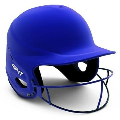 (Small/Medium, Matte Royal) - Rip-It Vision Pro Matte Softball Helmet. Brand New
