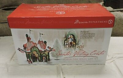 NIB, Department 56 Santa's Visiting Center, North Pole Series Gift Set, (V) KIM