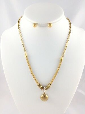 Women's necklace in stainless steel gold plated fabrics Jewelry