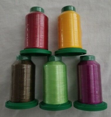 Fall Kit 5 Pack Of Isacord Embroidery Thread New In Wrapper