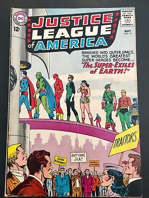 Justice League of America #19 DC 1963 Silver Age Comic Book No Reserve VG FN 5.0