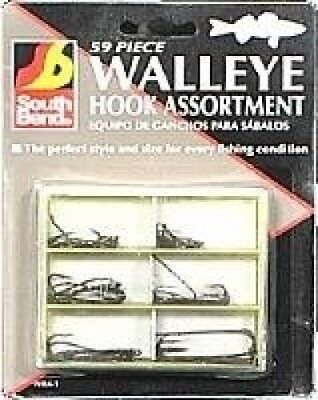 South Bends 59 Pc. Walleye Hook Assortment. Delivery is Free