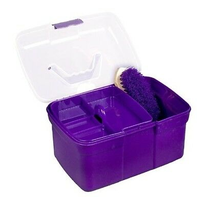 (Purple) - Children's Grooming Box - Purple - Grooming Kit. Horze. Brand New