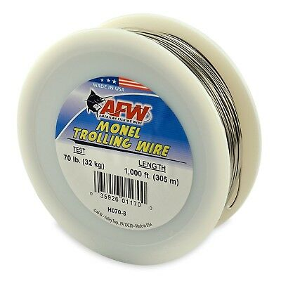 (90m, 9.1kg test, Bright) - American Fishing Wire Monel Trolling Wire (Single