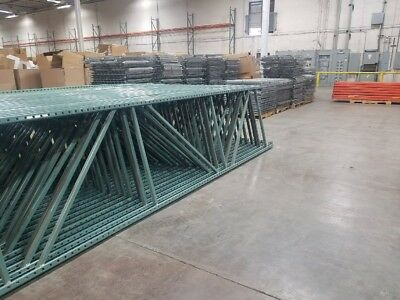 "Used Teardrop Pallet Rack 18' X 42"" Upright Frame"