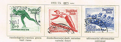 Germany Winter Olympic Games Third Reich stamps set 1936 B79-81 CV$40