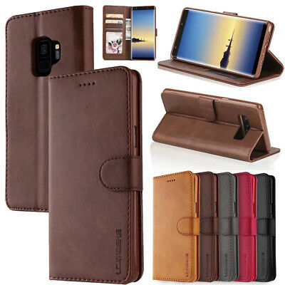 For Samsung Galaxy S9 Note9 S8 S7 Edge Leather Flip Case Cover Card Wallet Stand