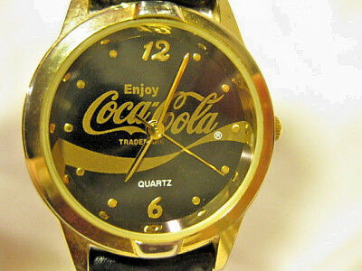 2003 Coca-Cola Advertisement Quartz Woman's Watch  Ml 2035 With Speidel Band
