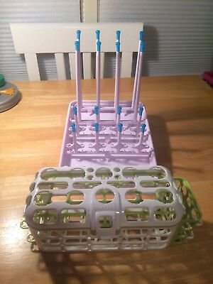 Munchkin Foldable Baby Bottle Drying Rack & Dishwasher Basket