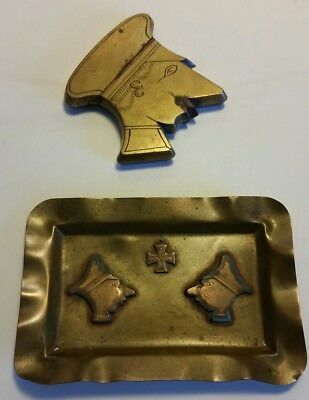 Wwi Trench Art Lighter And Ash Tray Of German Friedrich Wilhelm Tears At Verdun