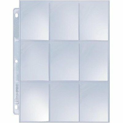 (25) Ultra Pro SILVER 9 Pocket Pages - Storage Sheets for Cards, Coupons