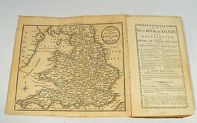 1808 Antique  Owen's NEW BOOK of ROADS or Description  ROADS GREAT BRITAIN Map