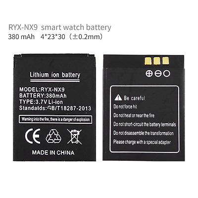 RYX-NX9 battery for smart watch phone 380mAh battery for RYX-NX9