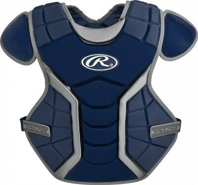 (33cm , Age-9 & Under, Navy) - Rawlings Renegade Chest Protector. Free Shipping
