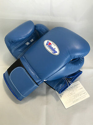 WINNING BOXING GLOVES MS-600B Tape Pro Type Training 16 oz Blue Made in  Japan