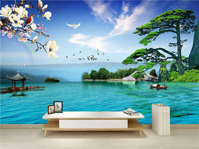 Original Cozy Lake 3D Full Wall Mural Photo Wallpaper Printing Home Kids Decor