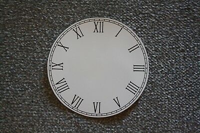 """Vintage 6"""" clock face/dial """"Thin"""" Roman numeral renovation wet transfer system"""