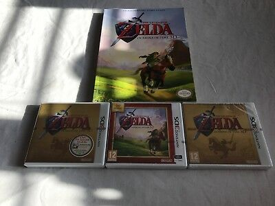 Nintendo 3Ds Ocarina Of Time Bundle  All 3 Versions Factory Sealed