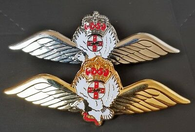 NSW Police Pilot Wings Gold and Silver Pair (badge)