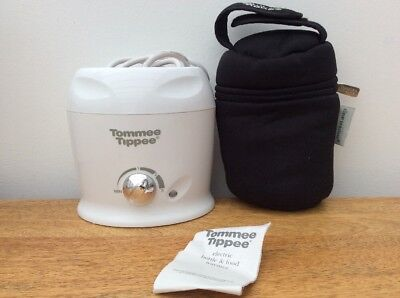 Bn Tommee Tippee Bottle/food Warmer With Black Thermal Bottle Carry Bag