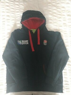 England Rugby 2015 World Cup Blue Hoodie (UK medium size)