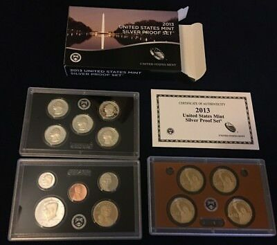 2013 US Mint Silver Proof set 90% state coins. Complete Set W/Box & COA