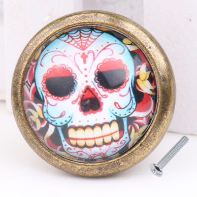 Skull Closet Door Dresser Drawer Cabinet Cupboard Pull Knob Handle Decor #11