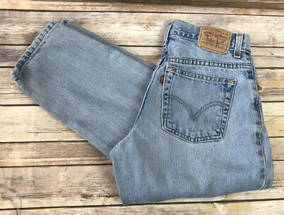 Vintage Levis 550 Boyfriend Style, High Waisted, Relaxed, Tapered Leg Size 28