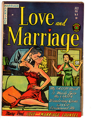 Love and Marriage # 9 (VG+ 4.5) 1953 GGA Superior Romance