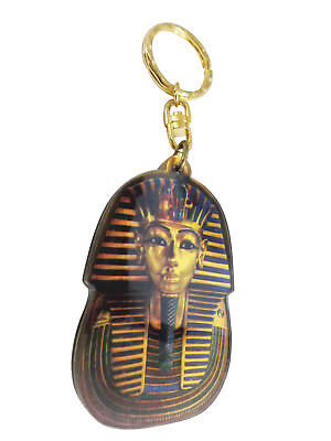 "King Tut Egyptian Keychain Key Chain Ring Acrylic 5"" Pharaoh Egypt Pharaohs 208"