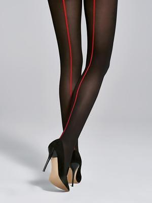 Charming message textured sheer pantyhose